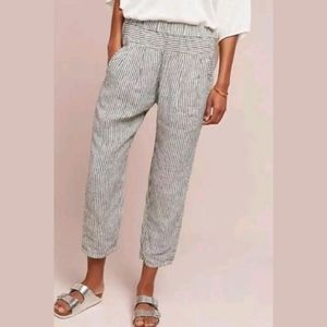 ANTHROPOLOGIE HEI HEI Coastal Linen Joggers Lounge
